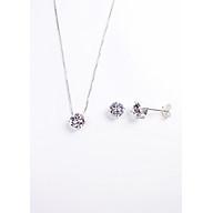 Bộ trang sức bạc Keely Valda Nụ Xinh Kim Cương đính đá Swarovski thumbnail