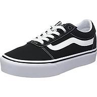 Vans Women s Ward Platform Canvas Low-Top Sneakers, Black ((Canvas) Black White 187), 3.5 UK thumbnail