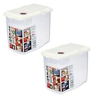 Combo 2 Thùng gạo 10kg nắp bật có bánh xe & ca đong nội địa Nhật Bản thumbnail