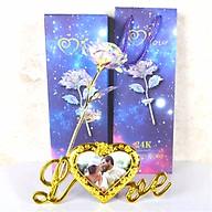 Quà Tặng 20 10 Ý Nghĩa Cho Mẹ, Cho Vợ, Cho Bạn Gái MUMUSO - Hoa Hồng Galaxy Có Đèn Led Phát Sáng Khung Hình Chữ Love thumbnail