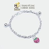 Vòng tay bạc đẹp cho bé, lắc tay hình quả dâu dễ thương cho bé gái trang sức bạc ta Minh Thoa JEWELRY thumbnail