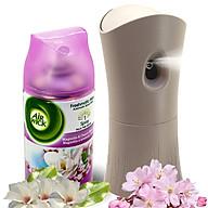 Bộ phun tinh dầu tự động Air Wick Magnolia & Cherry Blossom 250ml QT000326 - hoa mộc lan thumbnail