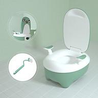 Bô vệ sinh cho bé cao cấp, bô vệ sinh em bé , bô vệ sinh cho bé baby toilet, tiện lợi, dễ dàng vệ sinh tặng kèm cọ rửa thumbnail