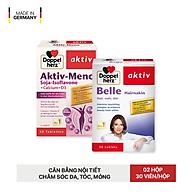 Bộ đôi cân bằng nội tiết tố, chăm sóc da tóc móng toàn diện Doppelherz Aktiv Meno và Belle Hairnakin (02 hộp 30 viên) thumbnail