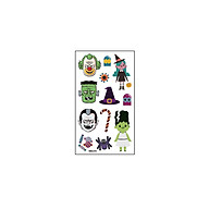 1 Sheet Cartoon Halloween Tattoo Stickers for Kid Fake Tatoo Children Hallowmas Body Art Waterproof Temporary Tattoo thumbnail
