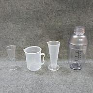 Combo 4 món pha chế quầy cà phê, sinh tố (Shaker 500ml In đậm) thumbnail