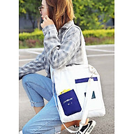 Túi đeo chéo vải canvas LAHstore, túi vải nữ 010, phong cách Hàn Quốc, thời trang trẻ thumbnail