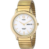 Timex Men s T21942 Chambers Street Gold-Tone Stainless Steel Expansion Band Watch thumbnail