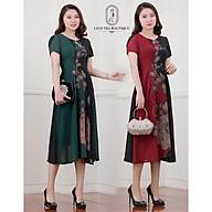 Đầm suông Linh Trà hoạ tiết hoa trung tâm - mã TM156 thumbnail