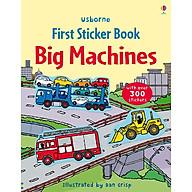 Usborne First Sticker Book Big Machines (bind-up) thumbnail