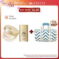 Bộ sản phẩm Anessa kem nền trang điểm tông tự nhiên và Kem chống nắng dưỡng da dạng sữa bảo vệ hoàn hảo 20ml thumbnail