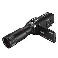 Máy Ảnh Andoer 4K HD Zoom 16X Màn Hình Cảm Ứng 3 Inch Wifi Với 2 Pin + Ống Kính 8X - Đen thumbnail