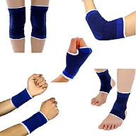 Bộ 10 dụng cụ bảo vệ chân tay khi tập thể thao, thể hình, co giãn 4 chiều cho nam và nữ+ Tặng quà ngẫu nhiên thumbnail