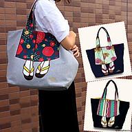 Túi tote đeo vai mis zapatos hình kimono Nhật Bản thumbnail