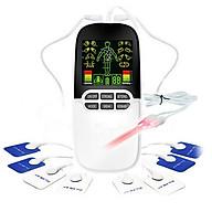 Máy massage xung điện pin sạc 8 miếng dán đèn hồng ngoại trị liệu JY-A818 thumbnail