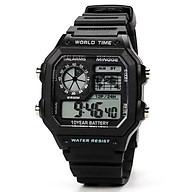 Đồng Hồ nam điện tử KASAWI N5599 đồng hồ điện tử nam mặt vuông thời trang đầy đủ chức năng dây nhựa silicon thumbnail