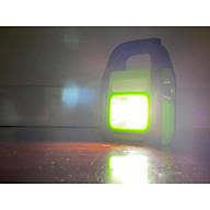 Đèn pin sạc xách tay siêu sáng 4 in 1 - có thể sạc bằng điện hoặc sạc bằng năng lượng mặt trời (đèn pin, đèn chiếu xa, đèn chiếu sáng, sạc dự phòng cho điện thoại) thumbnail