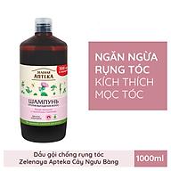Dầu gội ngăn ngừa rụng tóc Zelenay Apteka Cây ngưu bàng và Protein lúa mì 1000ml thumbnail