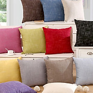 Vỏ Gối Tựa Sofa Màu Trơn - Giao Mẫu Ngẫu Nhiên thumbnail
