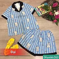 Đồ bộ nữ,đồ ngủ,đồ bộ mặc nhà,đồ bộ pijama đùi vải lụa size đại họa tiết dễ thương. thumbnail