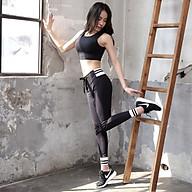 Bộ Quần Áo Tập Yoga Gym Nữ Cao Cấp, Form Chuẩn Tôn Dáng, Áo Croptop Có Mút - LUX72 thumbnail
