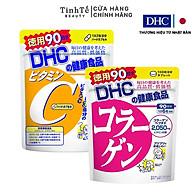 Combo Viên uống DHC Làm sáng và Đẹp da 90 ngày (Collagen & VitC) thumbnail