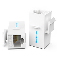 Vention VDD-B11-W RJ45 Connector Cat.5e UTP Keystone Jack Coupler for Network Cable Extension White 10 Pieces thumbnail