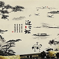 Decal dán tường tranh phong thuỷ xh9262 thumbnail
