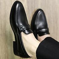Giày tây nam da nhám, Da mềm cao cấp, Đế cao 3cm, Có khâu đế chắc chắn, Mã X084 màu đen, Hàng Việt thumbnail