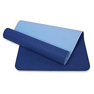 Thảm tập yoga TPE 6mm 2 lớp cao cấp (Xanh dương) + Túi và dây buộc thumbnail
