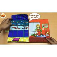 Sách Vải Tương Tác Căn Bếp Nhỏ - Có chíp chíp - Sách vải Pipo Việt Nam thumbnail