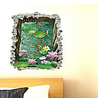 Decal dán tường phong cảnh hồ cá thành cao sk9303 thumbnail