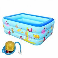 Bể bơi 3 tầng 1,3m đấy chống trượt cao cấp tặng kèm bơm giao hình ngầu nhiên thumbnail