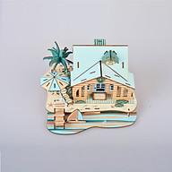 Đồ chơi lắp ráp gỗ 3D Mô hình Bali Island Villa thumbnail