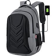 Balo Laptop Cao Cấp, Balo Đi Học Vỏ Sò New Style Ohazo BL102 (Tặng kèm cáp sạc USB) thumbnail