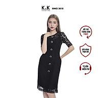 Váy Đầm Chữ A K&K Fashion KK100-33 Màu Đen Chất Liệu Vải Ren Cotton thumbnail