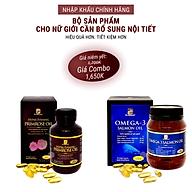 Bộ sản phẩm nhập khẩu chính hãng giúp bổ sung cân bằng nội tiết tố nữ gồm viên uống bổ sung nội tiết tố nữ HYPER EVENING PRIMROSE OIL và viên omega 3 dầu cá hồi OMEGA 3 SALMON OIL thumbnail
