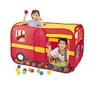 Đồ chơi lều bóng cao cấp hình xe buýt nhập khẩu Đài Loan. Gô m 1 lê u + 100q bo ng đựng trong hộp màu in hình sản phẩm thumbnail