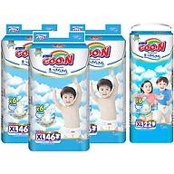 Combo 3 Gói Tã Dán Goo.n Premium Cực Đại XL46 (46 Miếng) - Tặng 1 Tã Quần Đại XL22 (22 Miếng) thumbnail