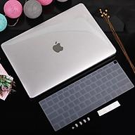 Combo Case ,Ốp + Phủ phím Macbook Trong suốt ( Tặng Nút Chống Bụi + chống gãy dây sạc ) thumbnail