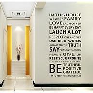 Decal dán tường chữ WE ARE A FAMILY THÔNG ĐIỆP Ý NGHĨA thumbnail