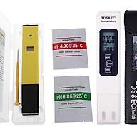 Combo bút đo độ PH và bút thử nước 3 in 1 TDS & EC kèm bao da thumbnail