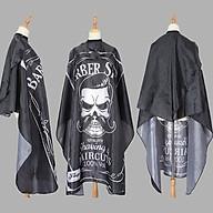 Áo choàng cắt tóc chống thấm nước móc cài kép kết hợp với thun cổ tiện lợi kích thước 1,2 x 1,4m họa tiết Barber thumbnail