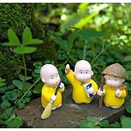 Bộ tượng 3 chú tiểu áo vàng thumbnail