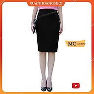 Chân Váy Nữ Công Sở Đẹp Có 2 Màu ( Đen Xanh Tím Than ), Kiểu Dáng Bút Chì Ôm, Dài Qua Gối, Xẻ Tà, Mc Fashion Cv0461 thumbnail