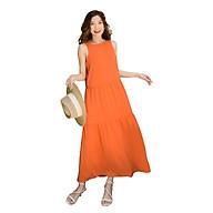Đầm Maxi Nữ Vải Lụa Trơn 4 Màu, Thích hợp đi làm, du lịch, dã ngoại, sinh hoạt ngoài trời - 3393 thumbnail