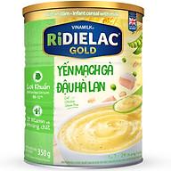 Bột Ăn Dặm Vinamilk Ridielac Gold Yến Mạch Gà Đậu Hà Lan Hộp Thiếc 350gr thumbnail