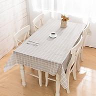 Khăn trải bàn PVC không thấm nước lót bàn ăn - Xám thumbnail