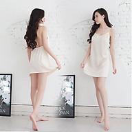Đồ Ngủ Sexy Váy Ngủ Gợi Cảm 2 Dây Phi Lụa Satin Quyến Rũ thumbnail