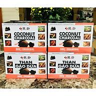 4 Hộp Than gáo dừa không khói BBQ-1Kg thumbnail